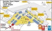 De luchthaven van Amsterdam.