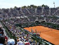 Tenniswedstrijd Davis cup, Argentina vs. Australia, gespeeld in Buenos Aires Argentinie in september 2006