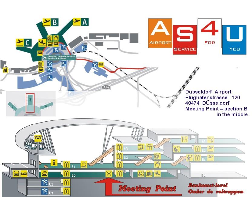 De luchthaven van Dusseldorf.