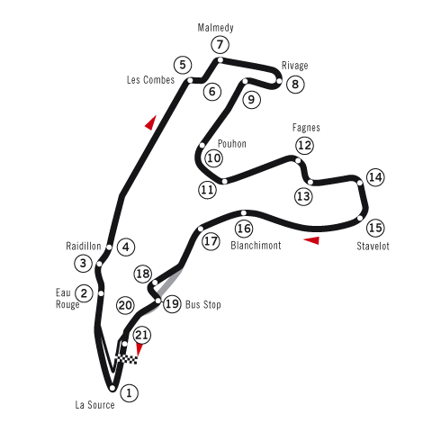Spa-Francorchamps - De Grand Prix van Belgie, Spa