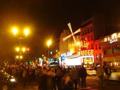 De Moulin Rouge in Parijs, Frankrijk