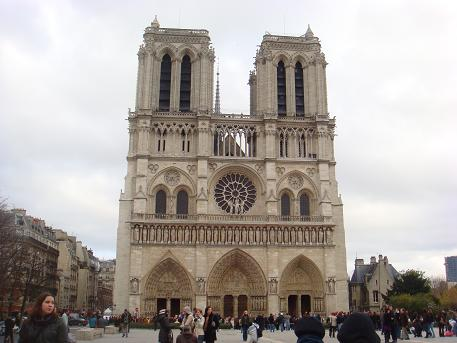De Notre Dame in Parijs, Frankrijk