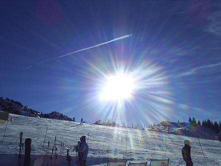 Skien op de Alpe d'Huez, Frankrijk