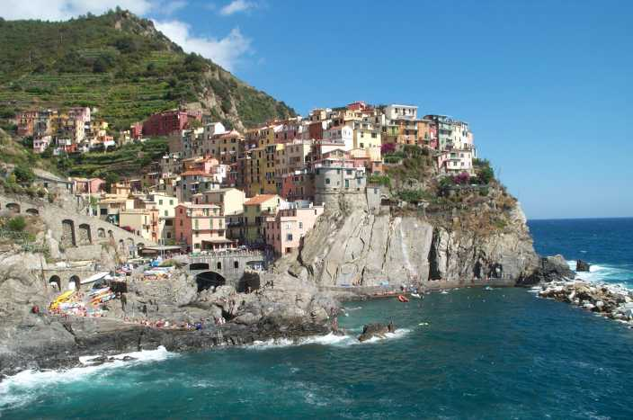 Een dorpje aan de kust van Italie