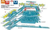 De luchthaven van Keulen.