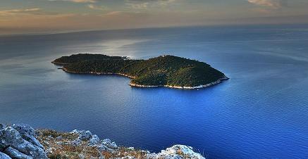 Het eiland Lokrum, Kroatie