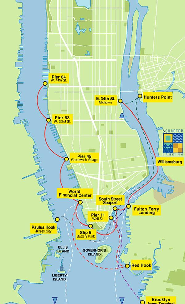 Watertaxi van New York.