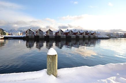 Svinoya Rorbuer, Svolvaer, de Lofoten, Noorwegen