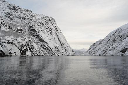 Trollfjord, de Lofoten, Noorwegen
