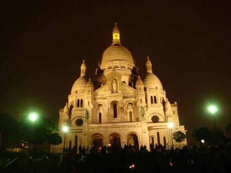 De Sacre Coeur in Parijs, Frankrijk
