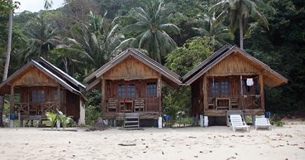 Koh Chang is gelegen in de Golf van Thailand, vlakbij Cambodja