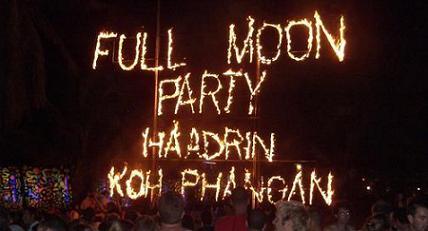 Wereldberoemde full moon party op Koh Phangan