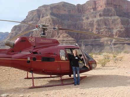Helikoptervlucht over en door de Grand Canyon