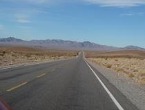 Op weg van Las Vegas naar Death Valley, december 2008