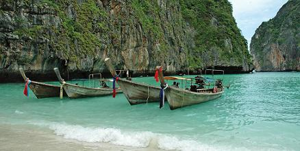 Thaise longtail boats