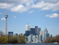 Toronto, gelegen aan de noordwestkant van Lake Ontario