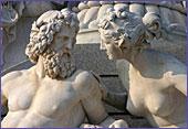 Een van de vele standbeelden in het klassieke centrum van Wenen.