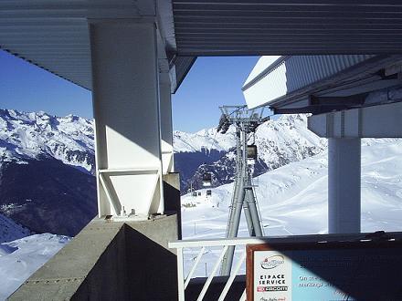 Gondel in Alpe d'Huez, Frankrijk