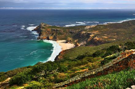 Cape Point, vlakbij Kaapstad in Zuid-Afrika